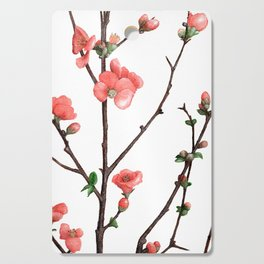 Flowering Quince Painting Cutting Board