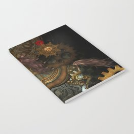 Steampunk,mystical steampunk unicorn Notebook