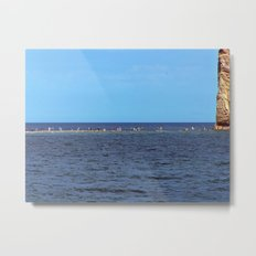 Walking to Perce Rock at low tide Metal Print