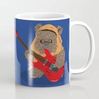 ewok Mugs featuring ewok rock&roll by flydesign