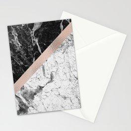 Monochrome marble designer - rose gold Stationery Cards