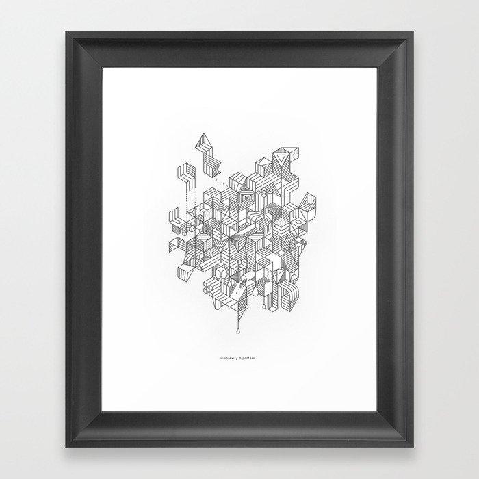 Simplexity Framed Art Print