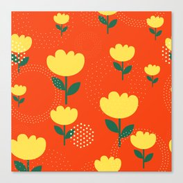 Tropico Floral Canvas Print