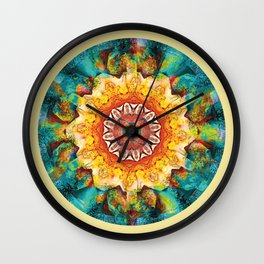 Mandalas from the Heart of Surrender 4 Wall Clock