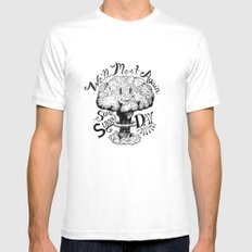 We'll Meet Again Some Sunny Day MEDIUM Mens Fitted Tee White
