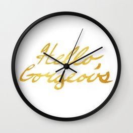 Hello, Gorgeous Gold Wall Clock