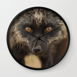 Amber Eyes Wall Clock