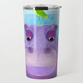 Betty & Ralph the Hippo and Bird Travel Mug