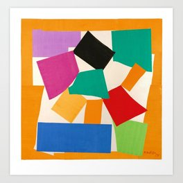 Henri Matisse - The Snail cut-out series portrait painting Art Print