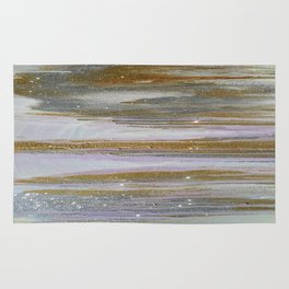 Gold and Silver Deluge Rug