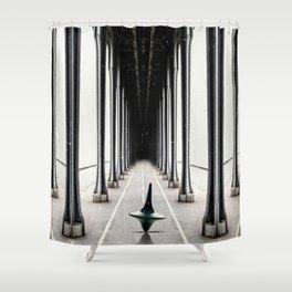 Inception travel movie art Shower Curtain