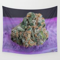 marijuana Wall Tapestries featuring Jenny's Kush Medical Marijuana by BudProducts.us