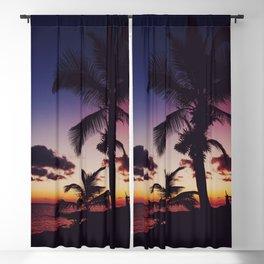 Summer Night Sunset Blackout Curtain