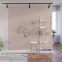 Hand drawning of a bird Wall Mural