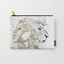 Lion Queen Carry-All Pouch