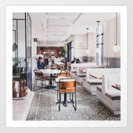 San Diego Cafe Art Print