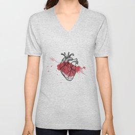 Anatomical heart - Art is Heart  Unisex V-Neck