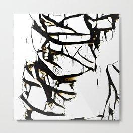 Paint Peeling Metal Print
