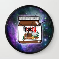 nutella Wall Clocks featuring NUTELLA by SteffiMetal