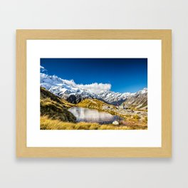 New Zealand Mount Cook Aoraki Framed Art Print