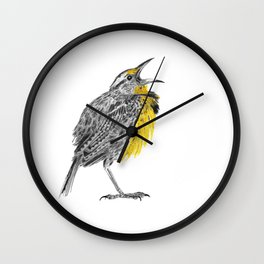 Eastern meadowlark Wall Clock