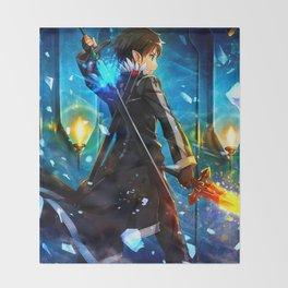 KIRITO - SWORD ART ONLINE Throw Blanket