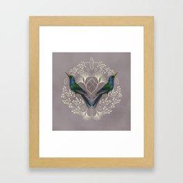 Endurance Crystal Grid in Mauve Framed Art Print