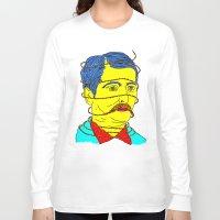moustache Long Sleeve T-shirts featuring moustache by DIVIDUS