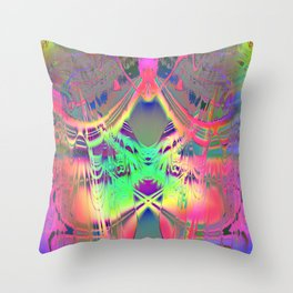 waves III plasticid Throw Pillow