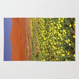 Flowers in the Namib desert, Namibia Rug