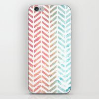 herringbone iPhone & iPod Skins featuring Herringbone by Chilligraphy