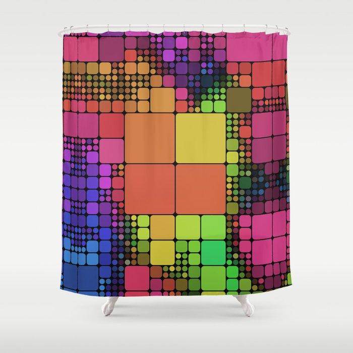 DISCO GEOMETRY  Shower Curtain