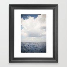 Ocean Sea Clouds Framed Art Print