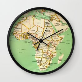 Map of Africa (1966) Wall Clock