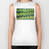 green pattern Biker Tanks featuring Green pattern by Nato Gomes