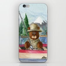 Fisherman Bear iPhone & iPod Skin