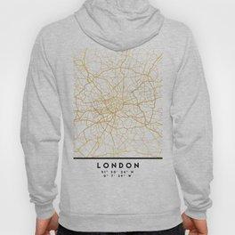 LONDON ENGLAND CITY STREET MAP ART Hoody