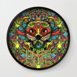 Cute Skull Dia de Los Muertos Wall Clock