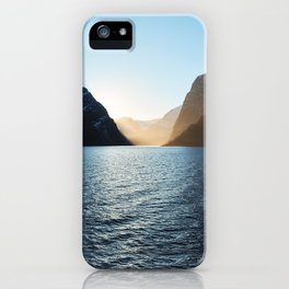 Nordic Sunset at Aurlandsfjord, Norway iPhone Case