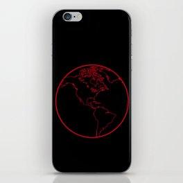 Black Globe 2 iPhone Skin
