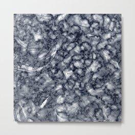Gray & Black Marble Texture Metal Print