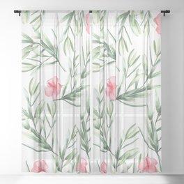 Delicate Hibiscus Sheer Curtain