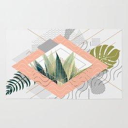 Abstract geometrical and botanical shapes I Rug