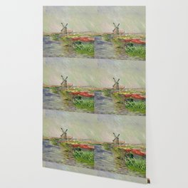 Monet, Tulip Field in Holland, 1886 Wallpaper