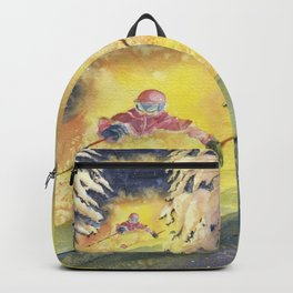 Skiing Art Backpack