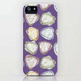 striped pebbles iPhone Case