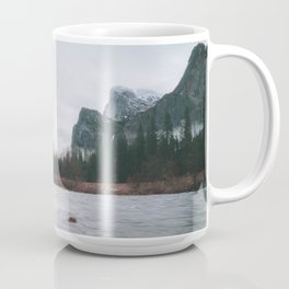 Yosemite Valley View with Fog | Yosemite National Park, CA Coffee Mug