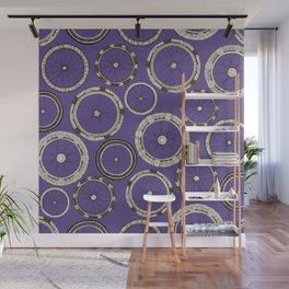 bike wheels violet Wall Mural