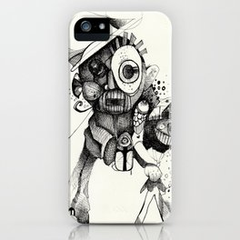 The Mad Hatter B&W iPhone Case