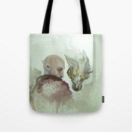 He Walks Alone Tote Bag